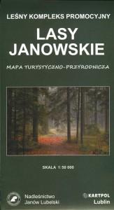 Mapa Leśny Kompleks Promocyjny Lasy Janowskie