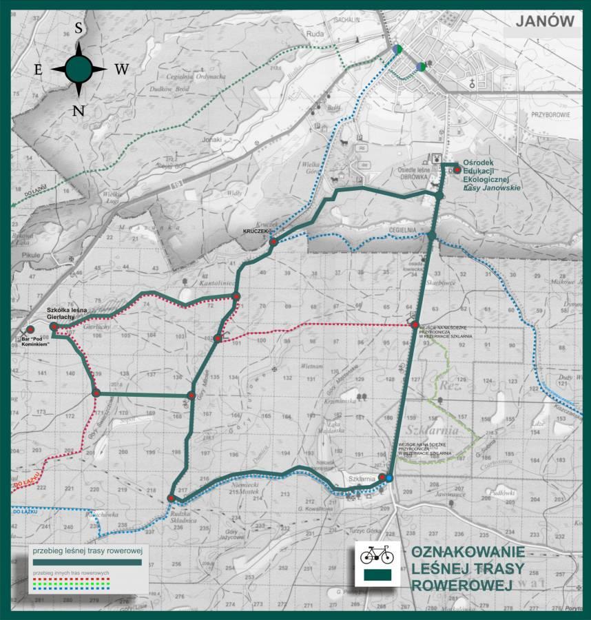 Plan Leśnej Trasy Rowerowej